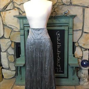 Sigrid Olsen silver skirt